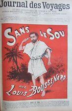 JOURNAL DES VOYAGES N° 953 de 1895 AFFICHE SANS LE SOUS / LE SINGE D AFRIQUE