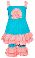 Girls Ruffled Summer Tank & Capri Boutique Outfit 2t 3t 4t 5 6 7 8 years cute
