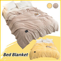 Skin-friendly Bed Sofa Warm Throw Blanket Fluffy Cozy Summer For Home Offic