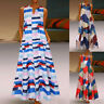 Women's Plus Size Bohemian V-Neck Daily Print Vintage Sleeveless Long Maxi Dress