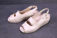 C1015 Fasan Damen Fußbett Sandalen Leder creme Gr. 36,5 (4 K) Wechselfußbett neu