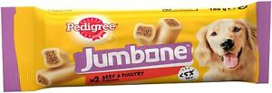 PEDIGREE JUMBONE 12x 2x180g BEEF& Poultry Medium Dog TREATs *Box Deal* 24 Chews