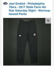 Joel Embiid 2017 NBA All-Star Warm-Up Game Issued Pants 2XL AUTHENTIC COA Worn