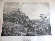 Heidelberg Neckar ciudad vista castillo terraza Fries heinz hombre Meder 1840