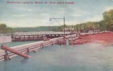 Antique Postcard c1912 Government Locks to Moline, Il Rock Island Arsenal 18700