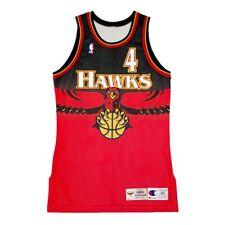 New listing vtg 1995 rare atlanta hawks #4 webb game worn champion jersey size 42+3