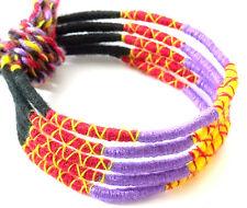 Lot 5 Bracelets Brésiliens de l'Amitié Macramé coton Friendship jaune rouge noir