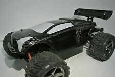 TRAXXAS 1/16 E-REVO REAL CARBON FIBER BODY SPOILER COMBO WITH OPT. LED LIGHT
