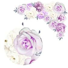 Removable Peony Rose Flowers Wall Sticker Art Nursery Decals Home Room Decor