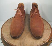 Crockett & Jones Chiltern Tan Suede Leather Ankle Boot US12E UK 11E Dainite sole