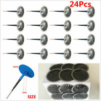 24Pcs Natural Rubber Car Tyre Puncture Repair Wired Plug Mushroom Patch 48mm*6mm