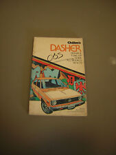 Chilton's Repair and Tune-Up Guide Manual VW Dasher 1974-1975 DYI repair guide