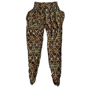 Big Pockets Joggers Yoga Pants Loungewear Size Small Multi Color Stretch USA
