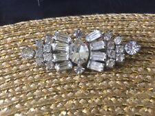 "Vintage Kramer brooch. 2 1/"". Clear rhinestone, gorgeous! Kramer New York!"