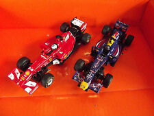 Carrera GO 2x F1 Auto Red Bull + Ferrari Rennbahn Slotcar 64009 + 64028 NEU