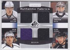 2013-14 SP Game Used Authentic Fabrics Quads Kopitar/Quick/Doughty/Voynov