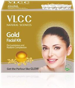 VLCC Natural Sciences Gold Facial Kit for Luminous and Radiant 60gm pack of 1
