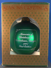 1991 CEDARTOWN,GEORGIA,GA.HISTORICAL MEMORIES OF CHRISTMAS ORNAMENT,WEST CINEMA