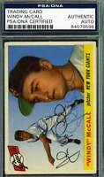 Windy Mccall 1955 Topps Psa Dna Coa Autograph Authentic Hand Signed