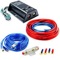 High Low Converter Adapter Lautsprecher auf Cinch mit Endstufe Kabelsatz 10mm²