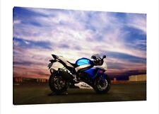 Suzuki GSXR-1000 30x20 Inch Canvas - Framed Picture Poster Print Art