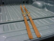 pair vintage made in norway wood cross country skis-by Madshus -Birke Beiner
