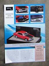 FORD FALCON XA 351 GT 1972 V8 - model diecast 1/43 TRAX OPAL Brochure Leaflet