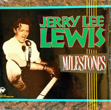 JERRY LEE LEWIS - MILESTONES - RHINO - (2) LP SET - 1985 - STILL SEALED
