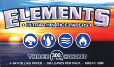 ELEMENTS Ultra Thin Rice Rolling Paper 76mm x 44mm Qty 300