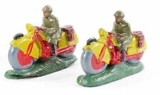 figurine 1930 en PLATRE - 2 MOTOS  / jouet ancien