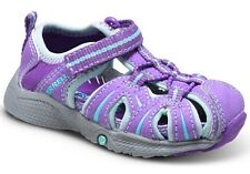 NIB Merrell Girls Hydro Water Sandal Shoe Hook Loop Purple Blue Toddler 5M