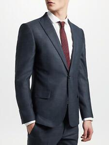Kin by John Lewis Semi Plain Slim Fit Suit Jacket Petrol Blue 38L New BNWT £119