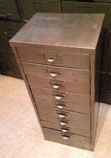 Vintage Industrial Metal Cabinet 9 Drawer Parts Hardware Tool Storage Jewelry