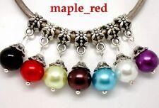 100pcs Mixed Beautiful Round Imitation Pearl Charms fit European Charm Bracelet