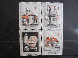 Soloth Kant Liga Gegen Die Tuberkulosis - block of 4 poster stamps - MNH