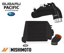 Mishimoto Top Mount Intercooler BLACK TMIC / Induction Hose for 08-14 SUBARU WRX