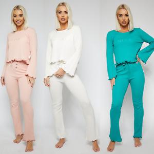 Women's Warm Pj SET Ladies Top Pyjama Set 100% SOFT COTTON Womens Warm Cosy PJS