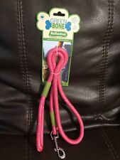 New listing Greenbone Pink Reflective Rope Leash For Medium To Large Dogs 4 Feet Long