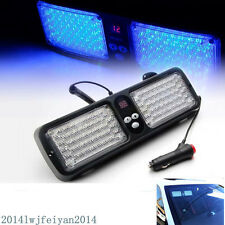 Blue 86LED Car SUV 4x4 Sun Visor Mount Emergency Warning Strobe Flash Light Lamp