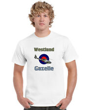 Westland Gazelle Helicopter T Shirt Army Air Corps