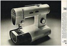 Publicité Advertising 1976 (2 pages) La Machine à coudre Omnia M12