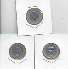 From Show Inv. - 3 NICE BI-METAL 5P COINS.DOMINICAN REPUBLIC.1997, 2002 & 2007