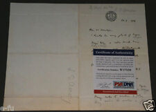 LEO AMERY Signed Letter PSA/DNA Autograph Secretary State For Winston Churchill