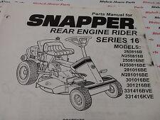 06098 Snapper Series 16 Rear Engine Rider Parts Manual