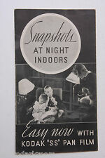 Kodak SS Pan Film Snapshots Night Brochure Ad Promo Booklet - VINTAGE B44