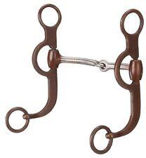 "Tough 1 5"" Antique Brown Argentine Snaffle Bit horse tack equine 25890"