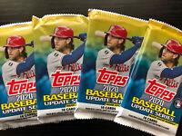 2020 Topps Update Series Baseball Pack HOT LOT OF 4 PACKS 16 Card chrome
