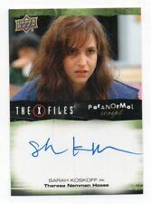 2018 X-Files Ufos & Aliens Autograph Card Sarah Koskoff as Theresa Nemman Hoese