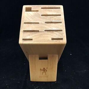 J.A.Henckels International Knife Block 9 Slot Model 35100-912 Natural Wood