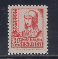 ESPAÑA (1937) NUEVO SIN FIJASELLOS MNH - EDIFIL 823 (30 cts) ISABEL - LOTE 2
